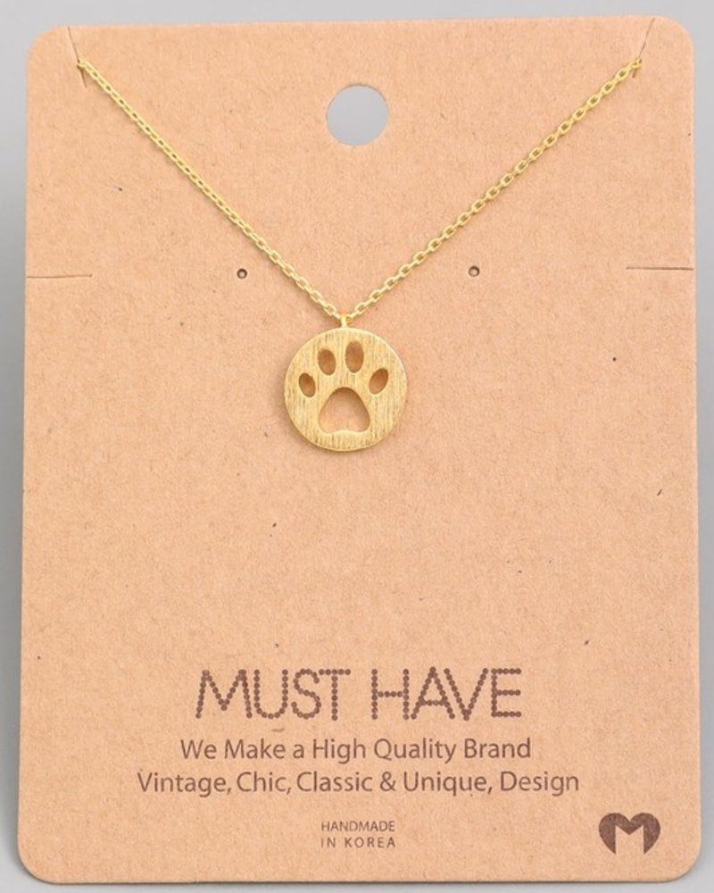 Must Have Bear foot chain  necklace