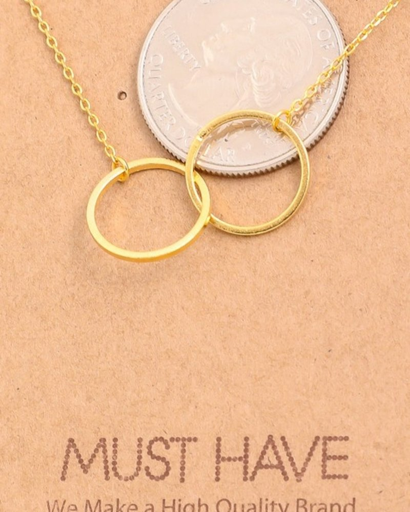 Must have Two ring chain necklace