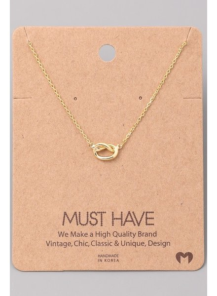 Must have Knot heart chain necklace