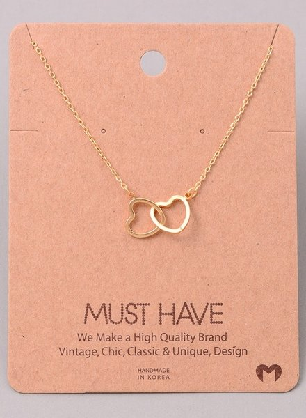 Must have Two heart chain necklace