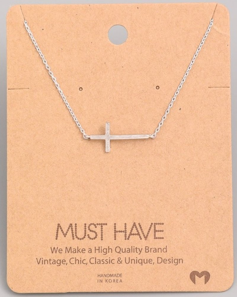 Must have Sideways cross chain necklace