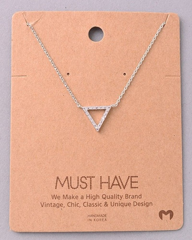 Must have Triangle bling chain necklace