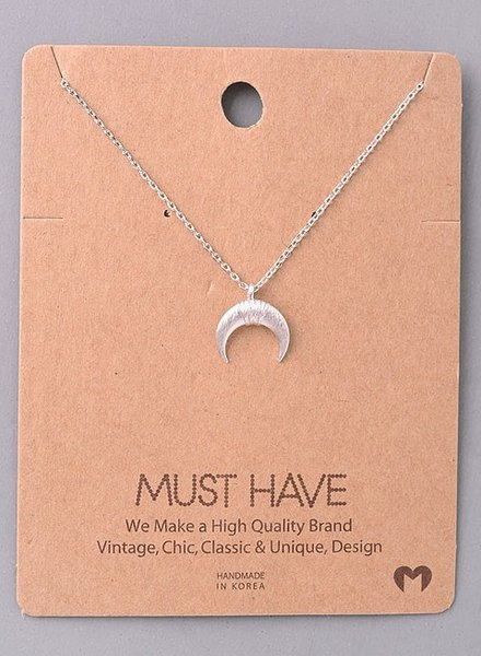 Must Have Moon thin chain necklace