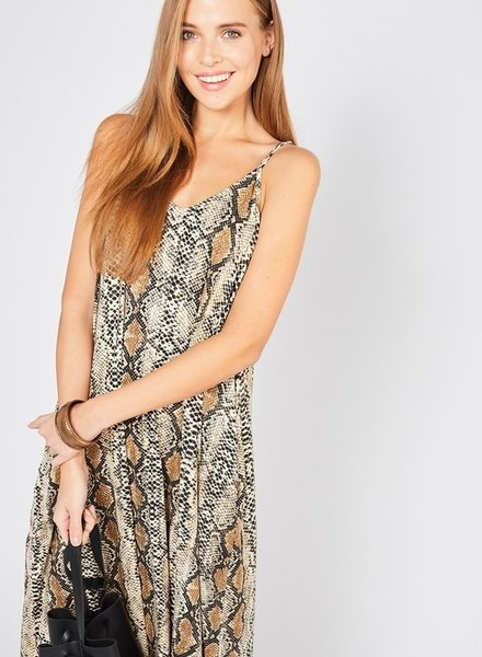 Ento Long length snake skin maxi dress