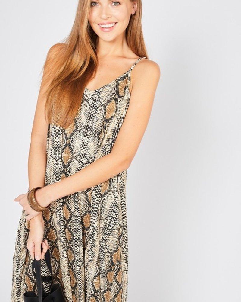 Ento Long length snake skin maxi dress