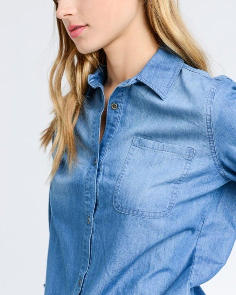 Dark Denim L/S Shirt Size 1XL