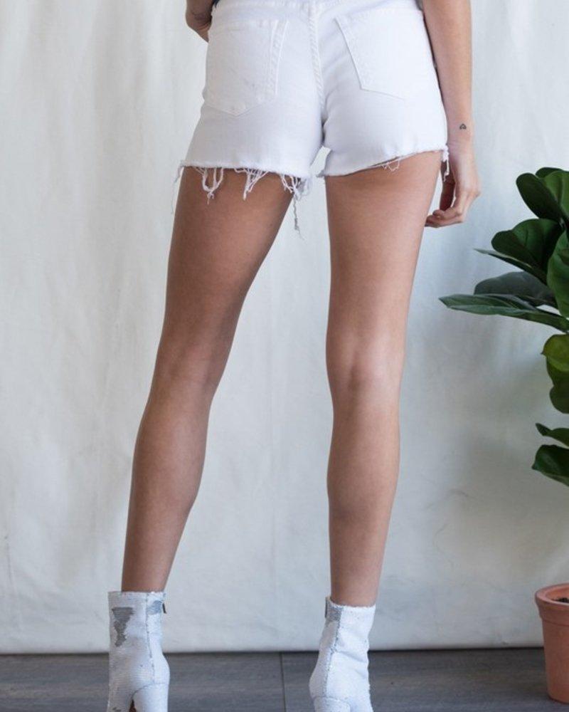 Sneak Peek Midrise distressed shorts