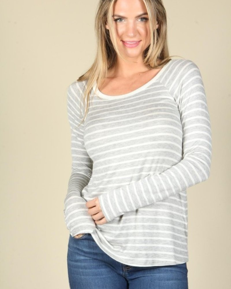 PS Kate Basic Stripe Long Sleeve Top