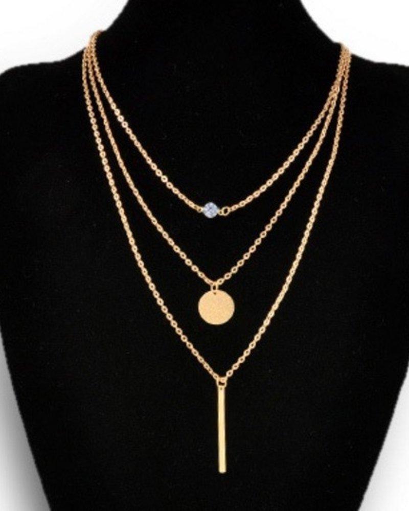 Fashion Jewelry Three layered necklace