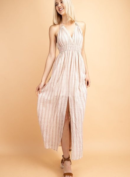 Le Lis Sheer Gingham Print Maxi Dress