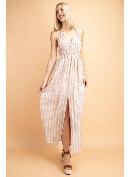 Le Lis Sheer Gingham Print Maxi Dress