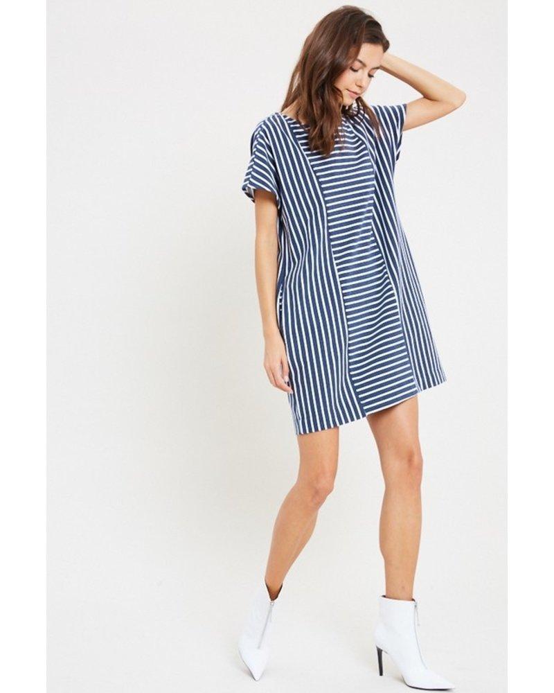 Navy Striped Dress S/M
