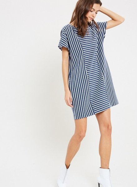 Navy Stripped Dress M/L