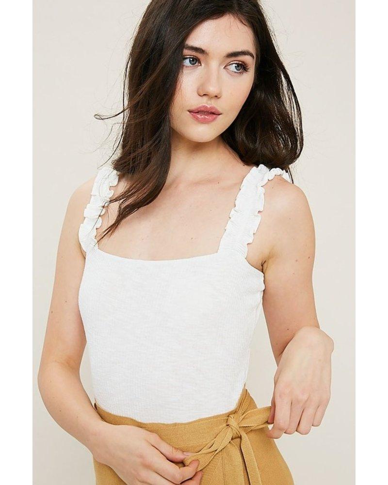 Ivory Sleeveless Body Suit Size Large