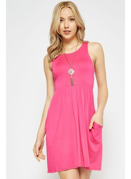 Beeson River Pink Dress with hidden pocket Size Large
