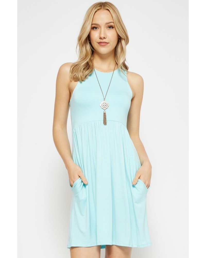 Beeson River Turquoise Dress with hidden pocket Size Small