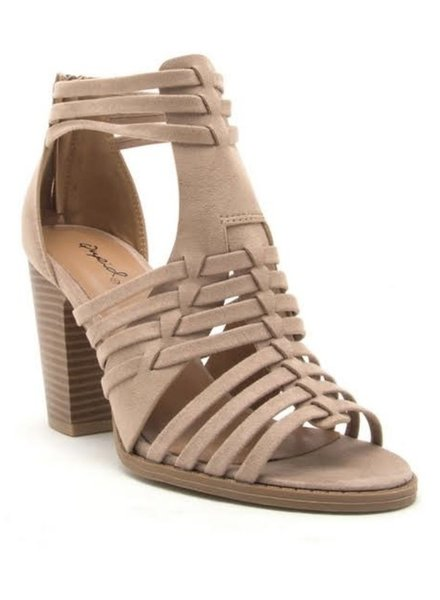 BB-Cadence Taupe Heel Size 7.5