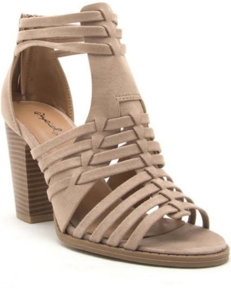 BB-Cadence Taupe Heel Size 9