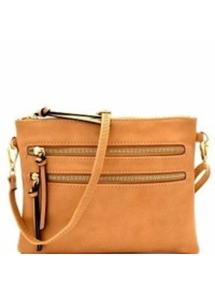 Isabelle 2 Front zipper pocket handbag