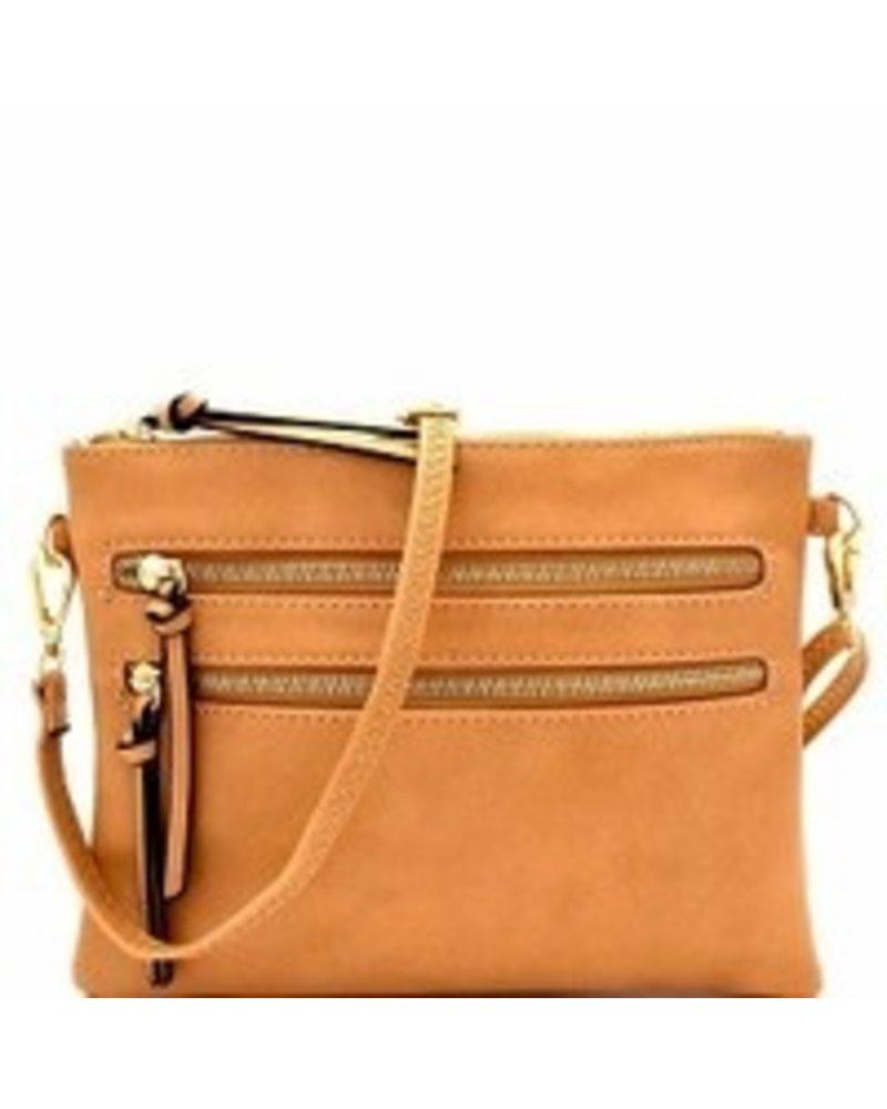 Isabelle 2 Front zipper pocket handbag