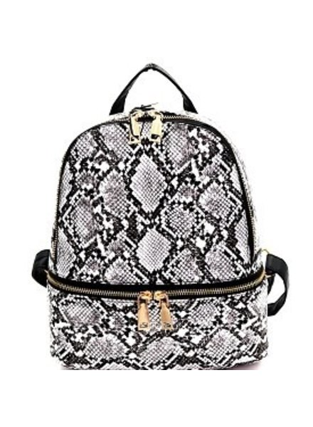 3 AM Forever Snake skin backpack purse