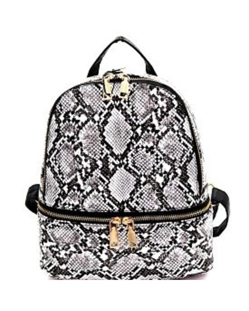 3 AM Forever Snake skin backpack purse
