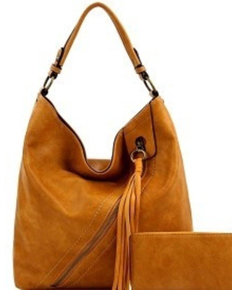 La Miel 2 in 1 Fashion Tassel w/cross zipper