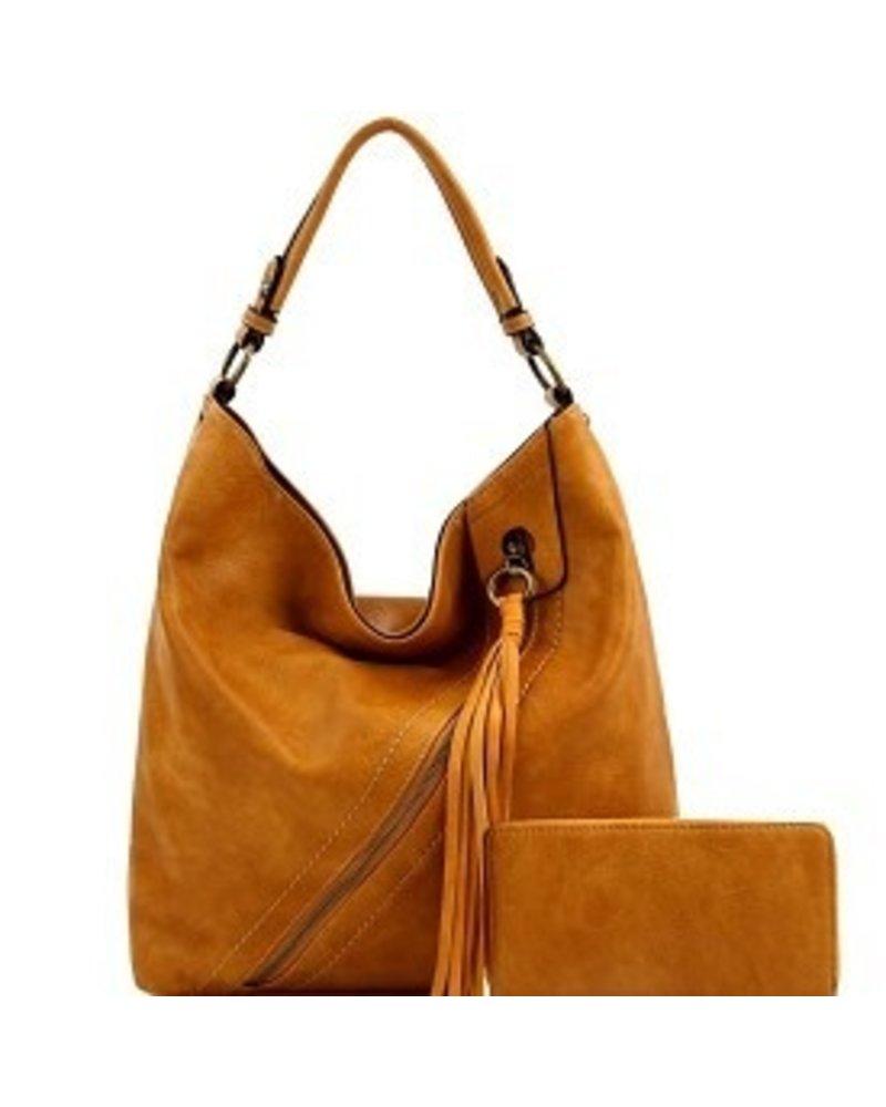 Le Miel 2 in 1 Fashion Tassel w/cross zipper