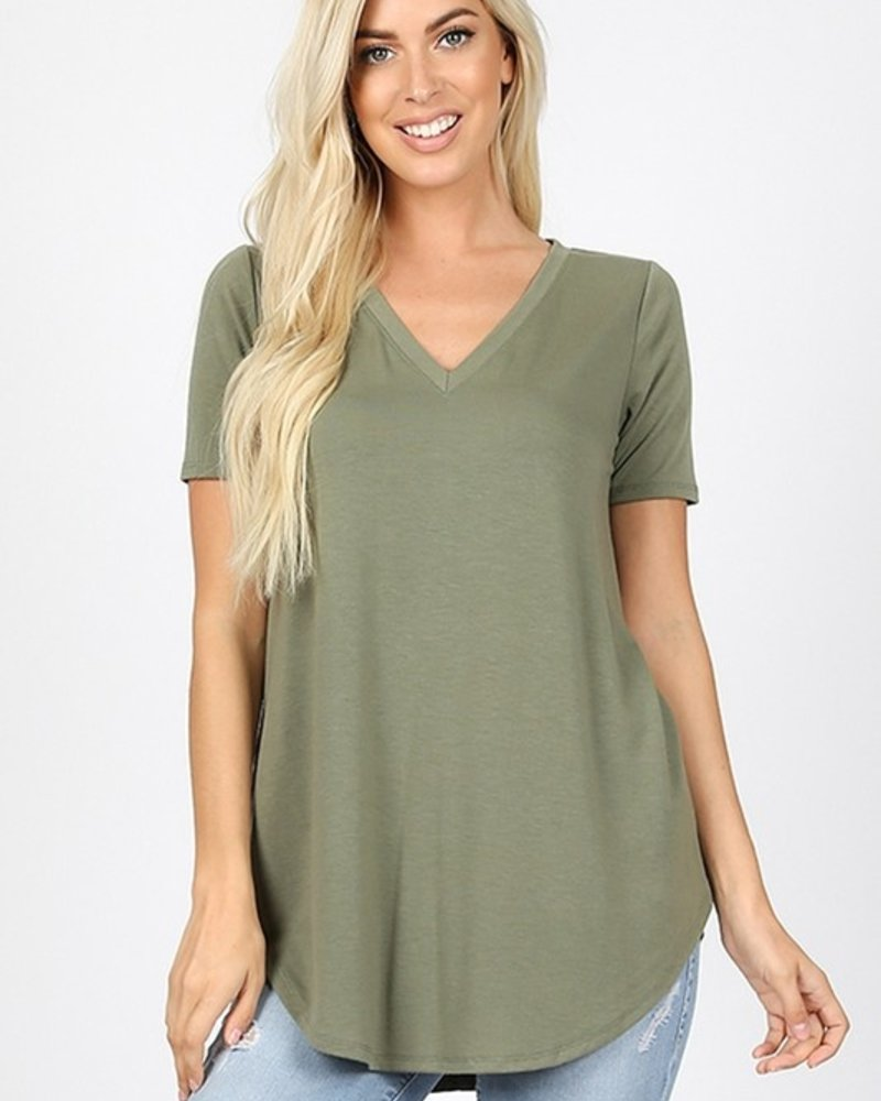 Short Sleeve V Neck Relax Fit Perect Tee
