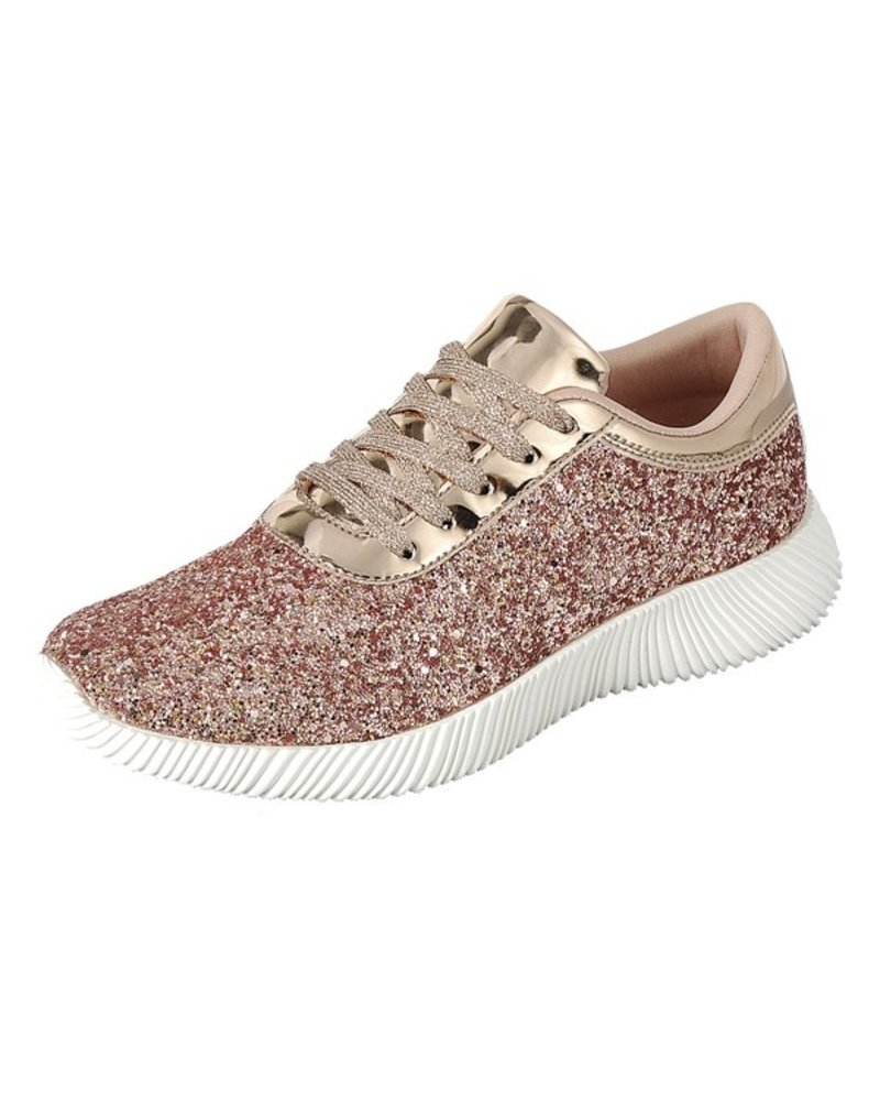 Forever Rose Gold Tennis Shoe Size 10