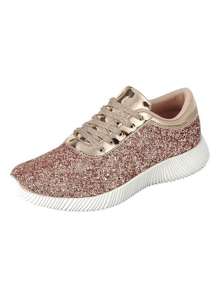 Forever Rose Gold Tennis Shoe Size 8