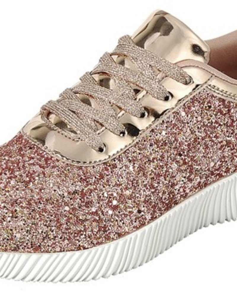 Forever Rose Gold Tennis Shoe Size 9