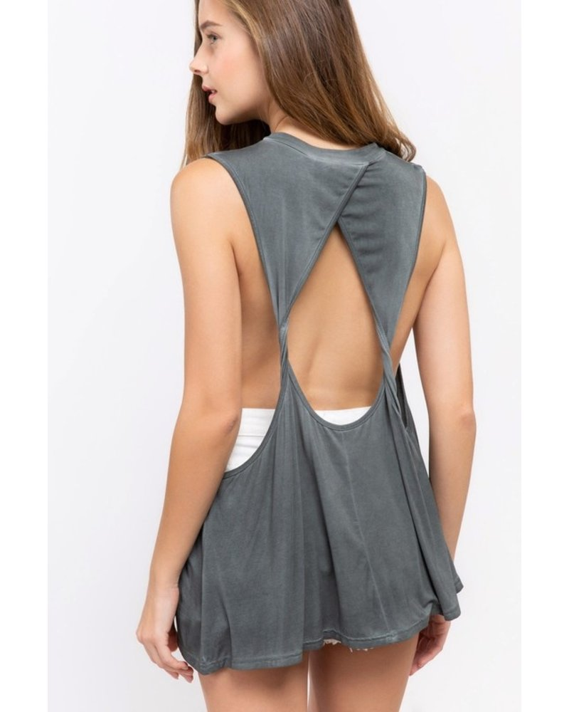 Charcoal Top w/Open Back Size Large