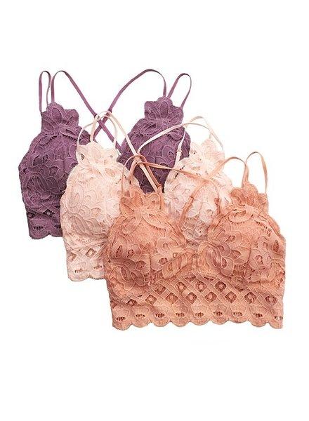 Anemone Crochet Lace Bralette in Black L