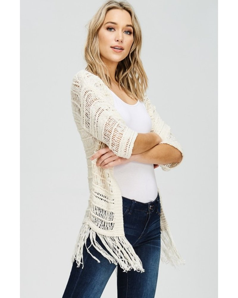 Solution Off White Kimono One Size