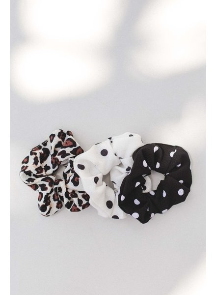 Space46 Multi Print Polka Dot Scrunchie