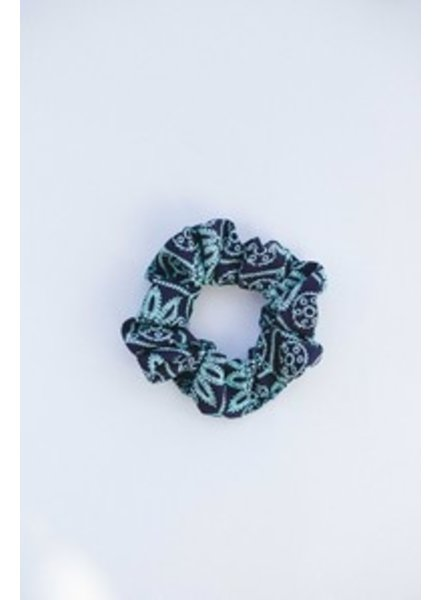 Space46 Green multi scrunchie