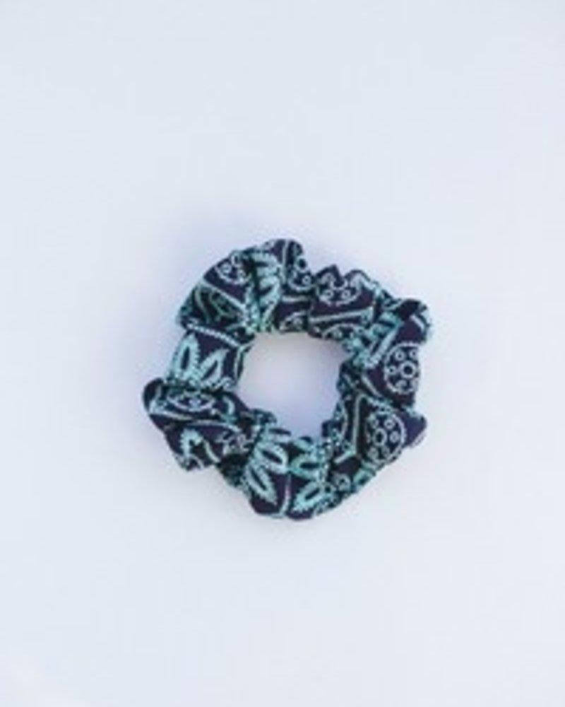 Space46 Green multi scrunchie