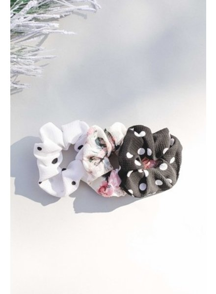 Space46 Dot water color trio scrunchie
