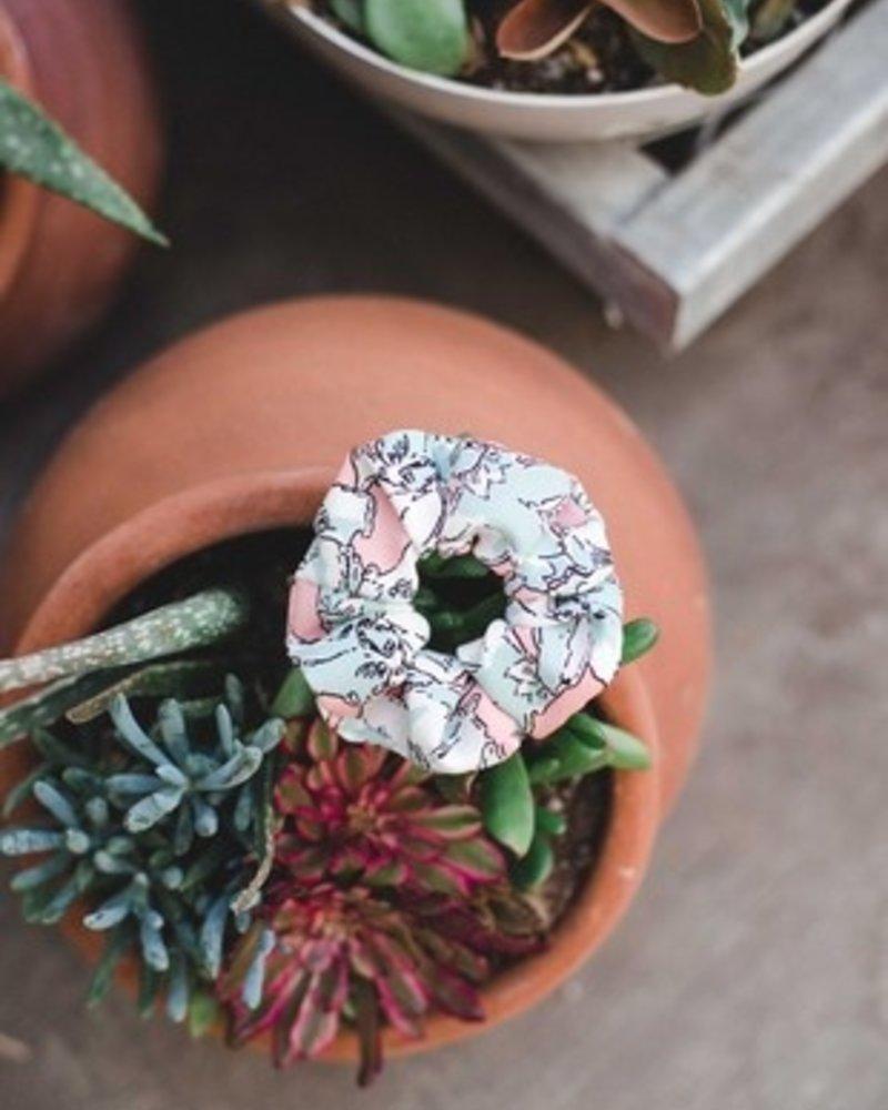 Space46 Blush floral scrunchie