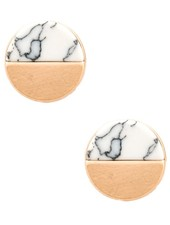 Isles & Stars Half moon precious gemstone earring