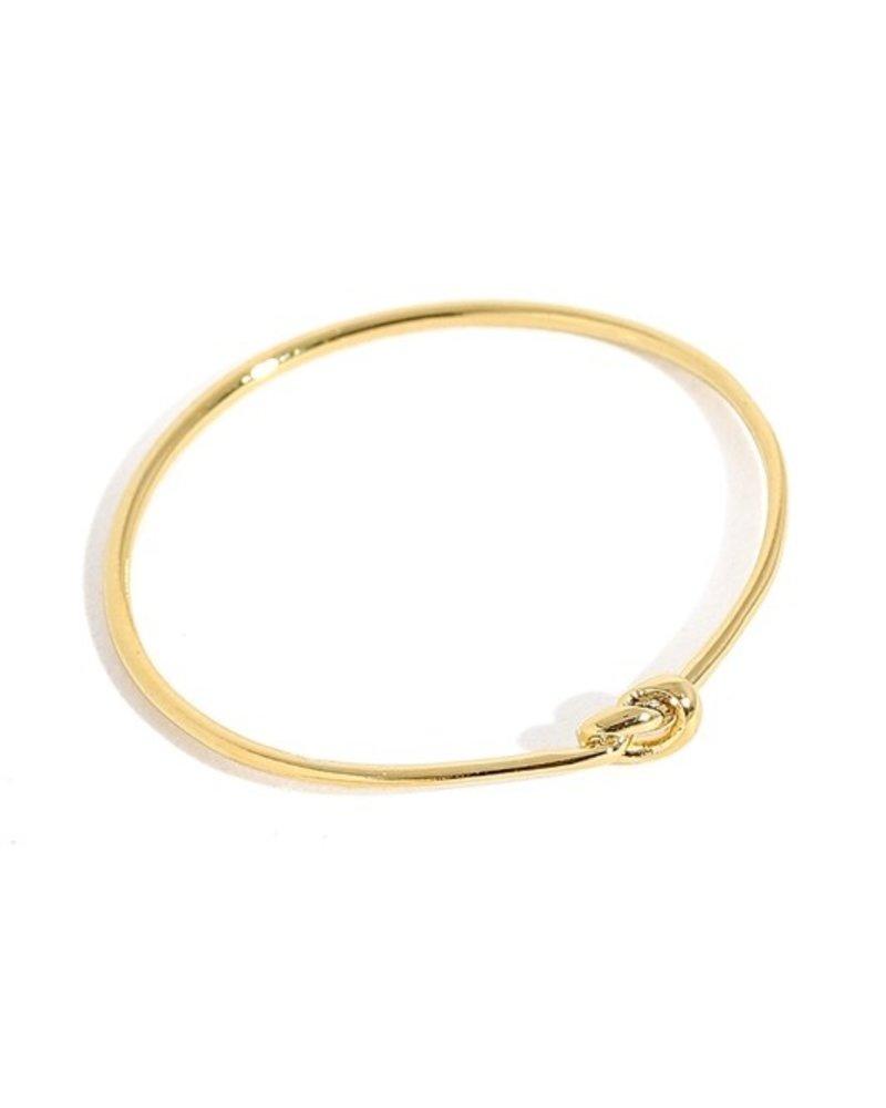 Metallic knot band ring