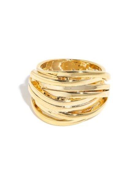 Layered coil multi strand design ring