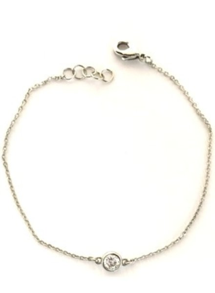 Fresh & Co Cubic zirconia chain bracelet