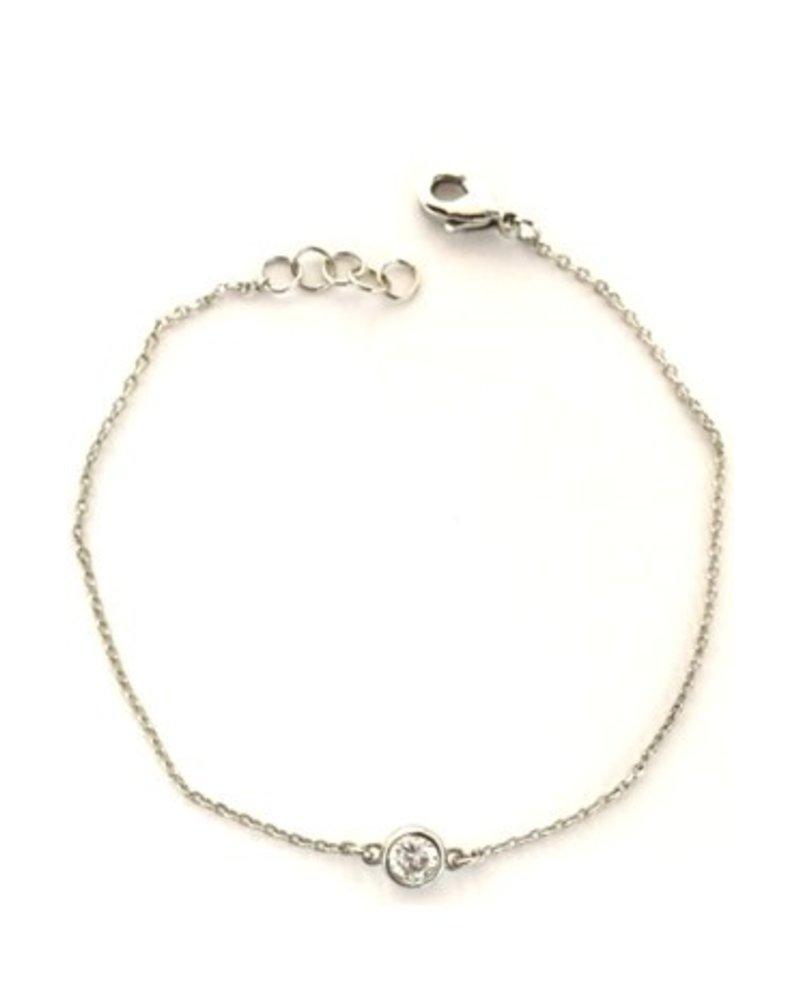 Fresh & Co Cubic zirconia chain bracelet
