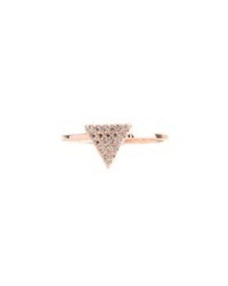Fresh & Co Cubic zirconia triangle ring