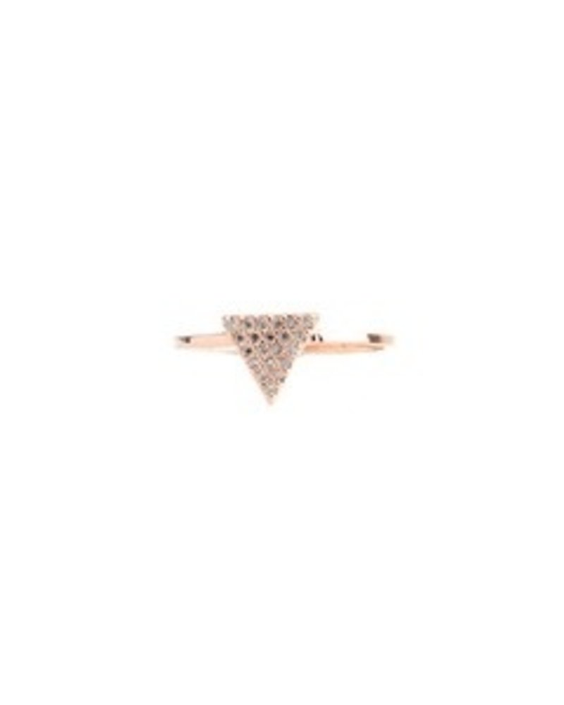 Fresh & Co Cubic zirconia triangle ring