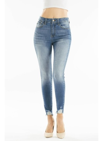 KanCan High Rise Super Skinny Jean Ankle Distressed