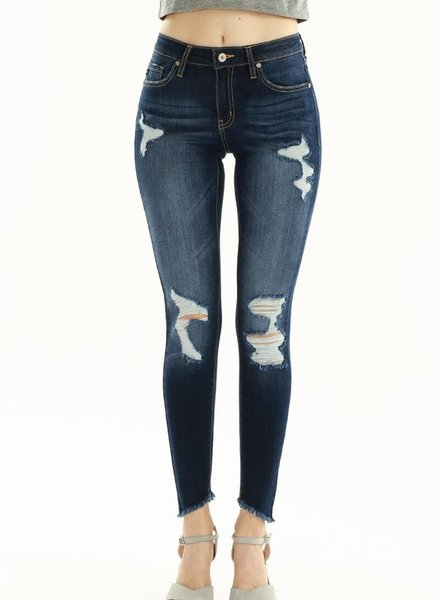 KanCan Mid Rise Super Skinny Jeans Lightly Distressed