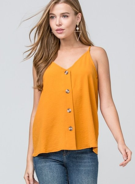 Gold Front Button Tank